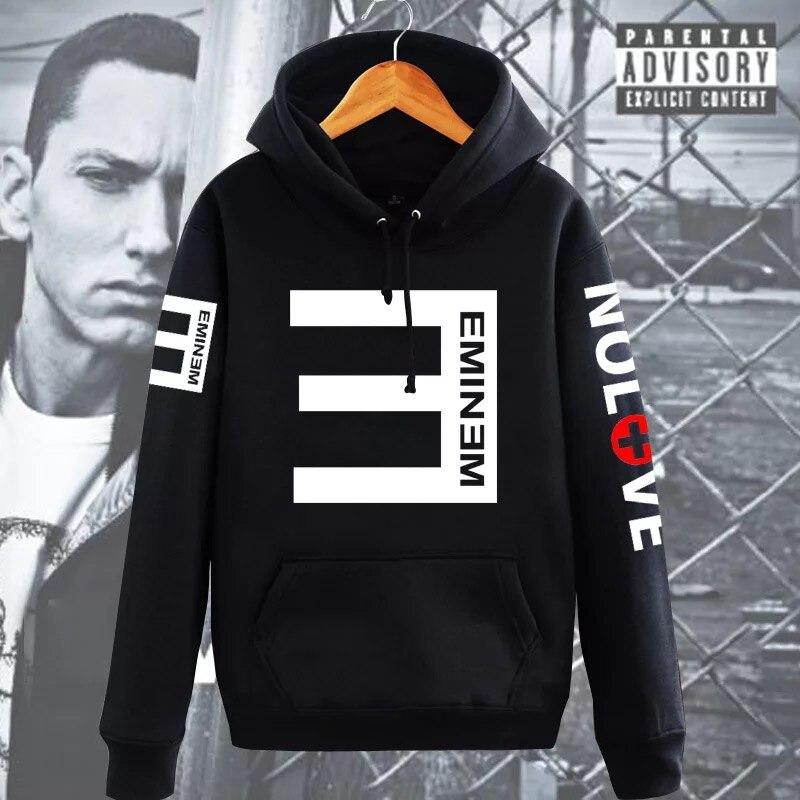2017 Inverno In Pile Da Uomo Con Cappuccio Eminem Stampato Addensare Pullover Felpa Uomo Sportswear Moda Abbigliamento Donna Felpa