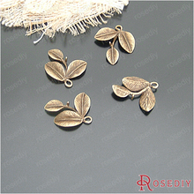 (20892-G)6PCS 23*23MM Antique Bronze Leaves Tree leaf Charms Pendants Diy Jewelry Findings Accessories Wholesale(China (Mainland))