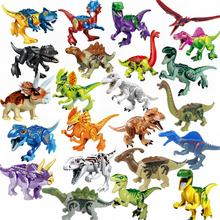 Locking Blocks Jurassic Dinosaurs Tyrannosaurus Rex Wyvern Velociraptor Stegosaurus Building Blocks Toys For Children Dinosaur cheap hua tang xin yue CN(Origin) Unisex 3 years old Small building block(Compatible with Lego) Certificate Made IN China Jurassic Dinosaur