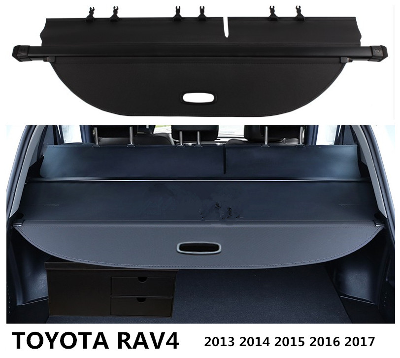 For TOYOTA RAV4 2013 2014 2015 2016 2017 2018 Rear Trunk Cargo Cover Security Shield Screen shade High Qualit Car Accessories