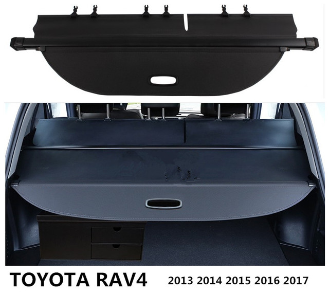 For Toyota Rav4 2017 2016 2018 Rear Trunk Cargo Cover Security Shield Screen Shade High Qualit Car Accessories