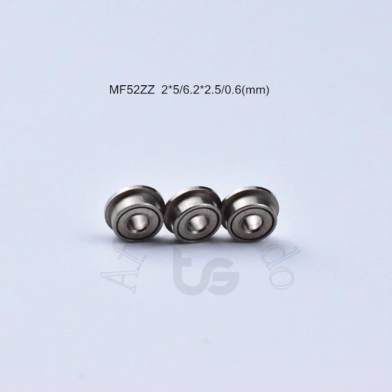 MF52ZZ LF520ZZ 2*5*6.2*2.5*0.6(mm) 10pieces Free Shipping Bearing Flange Bearings MF52ZZ LF520ZZ Chrome Steel  Bearing