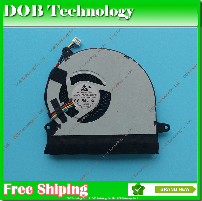New laptop cooler CPU Cooling Fan For Asus U56E U56E-RAL9 DELTA BB86 BDB05405HHB 5V 0.36A cpu cooler fan image