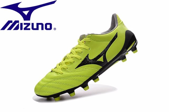 big sale a5402 2a1f4 US $54.98 49% OFF|Mizuno NEO II TF Morelia Neo KL Mix Rugby Boots Adult  Diva yellow/Safety sneakers Men Shoes Weightlifting Shoes Size 39 45 -in ...