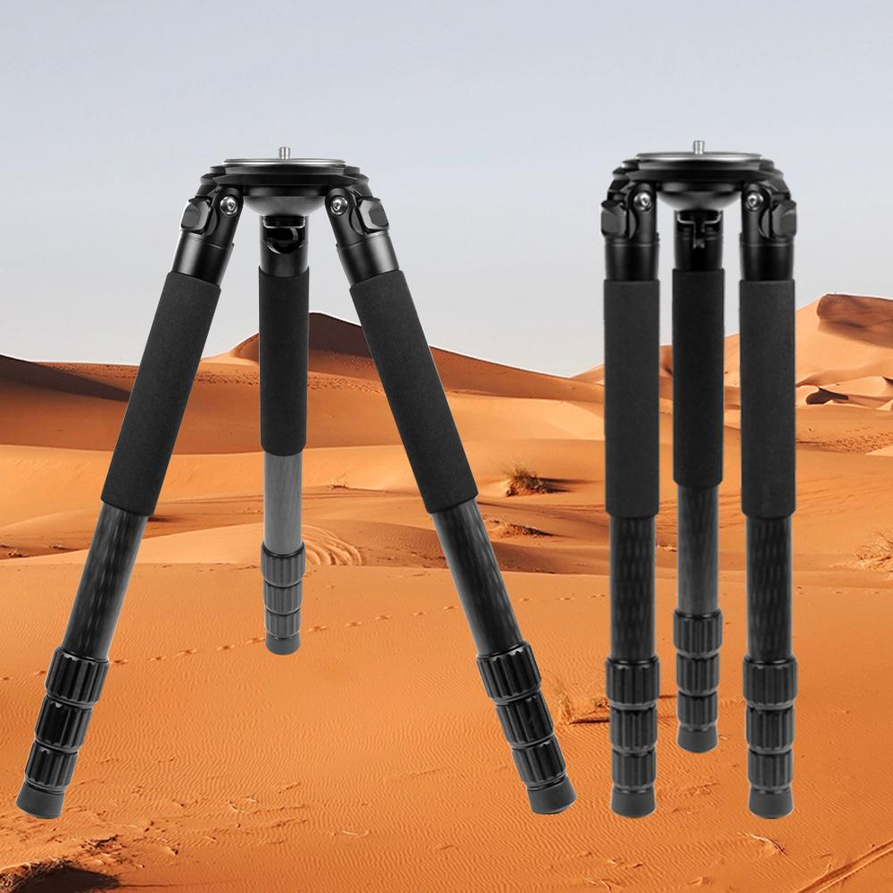 L404C Professional Carbon Fiber Tripod Bird Watching Without Mid Axle 40mm Large Tube for Digital Camera