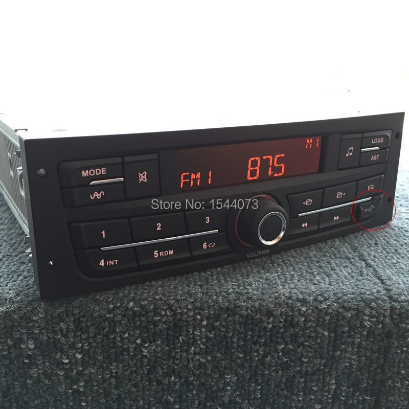Lecteur Audio de voiture MP3 stéréo avec USB pour Peugeot 207 206 301 307 308 citroën C2 Elysee ZX C4 VW Jetta Bora retiré de la nouvelle voiture