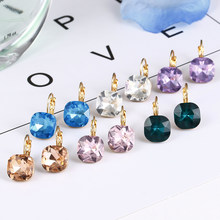 Good quality large crystal earring 2018 new Fashion Statement Stud Earrings 6 color available Fashion Earrings for women E0257(China)
