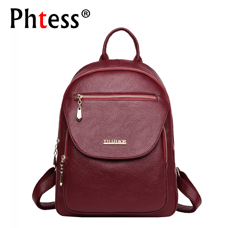 Leather Backpacks For Women 2019 Large Capacity Travel Backpack Female Mochilas Ladies Bagpack Luxury Brand Casual Daypack New