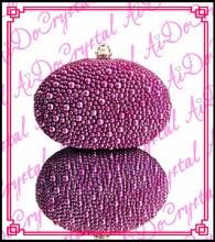 Aidocrystal handmade special crystal pink blink rhinestone clutch purse
