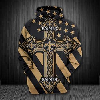 Unisex 3D Over Print Sweatshirts Saints Streetwear