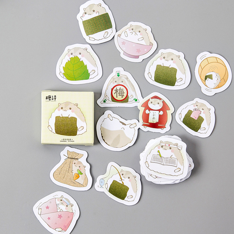 45 Pcs/box Creative Cute Hamster Pet Paper Stickers Diary Decor DIY Scrapbooking Sticker