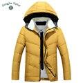 2016 Nuevos hombres de Invierno Con Capucha de Pato Blanco Abajo Chaqueta Gruesa de Los Hombres Abrigos de down jacket para hombre Abrigos hombres caliente abajo chaquetas