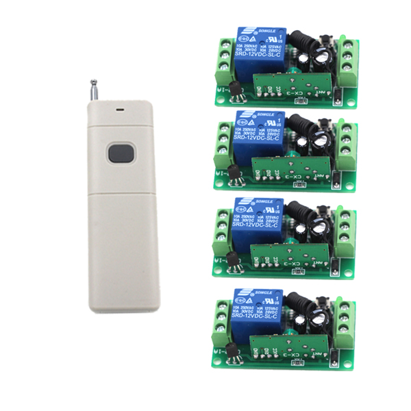 12V 1CH Remote Control Switch System 315/433mhz Transmitter and receiver Radio control system Light control 315 433mhz 12v 2ch 6 transmitter