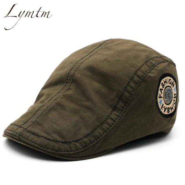 2019 Fashion Casual British Style Unisex Solid Cabbie Hats Caps Newsboy Cap Flat Hat Irish Newsboys Caps For Men And Women