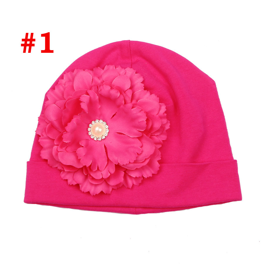 902b31e7d US $2.24 35% OFF|Cotton Rose Flower Baby Hat Little Girl Beanies Cap Spring  Autumn Soft Hat Newborn Shower Gift Photo Props SW164-in Hats & Caps from  ...