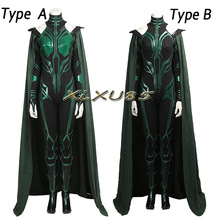 Popular Movie Thor 3 Ragnarok Hela Trailer Cosplay Costume Type A or Type B with Boots Custom Made With Boots Halloween Clothes