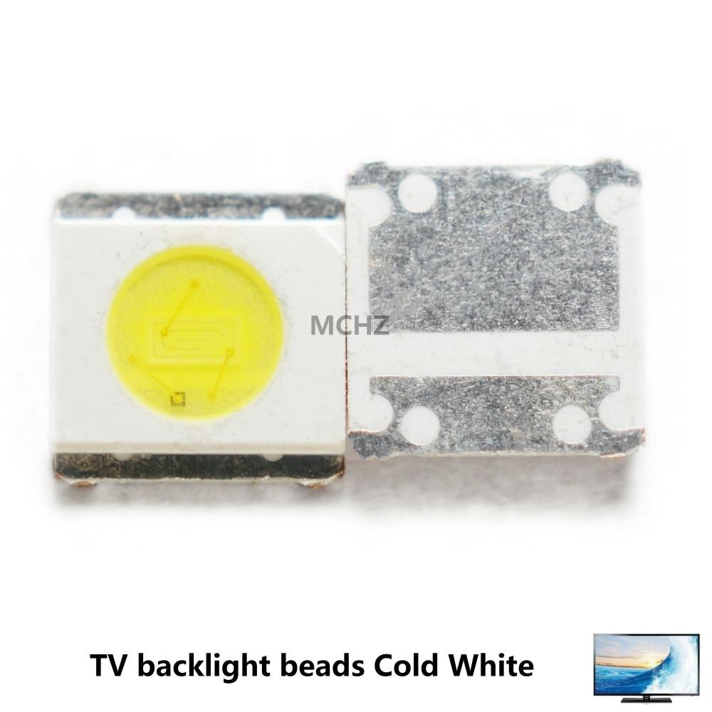 100 PCS PARA WOOREE UNI retroiluminação LED LCD TV talão 3 V 1 3535 W LED SMD Lâmpada talão 3535 branco frio WM35E1F-YR07-eB
