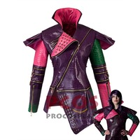 Descendants Mal Cosplay Costume Only Jacket crocodile leather version mp003181