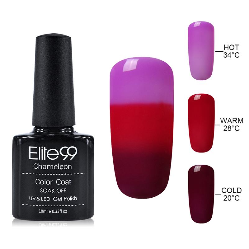 Aliexpress Elite99 10ml Gel Varnish Nail Polish Chameleon Temperature Color Changing Thermal Change Uv Lacquer From