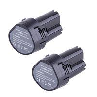 Top Deals 2X 10 8 Volt Li Ion Battery For Makita BL1013 194551 4 194550 6