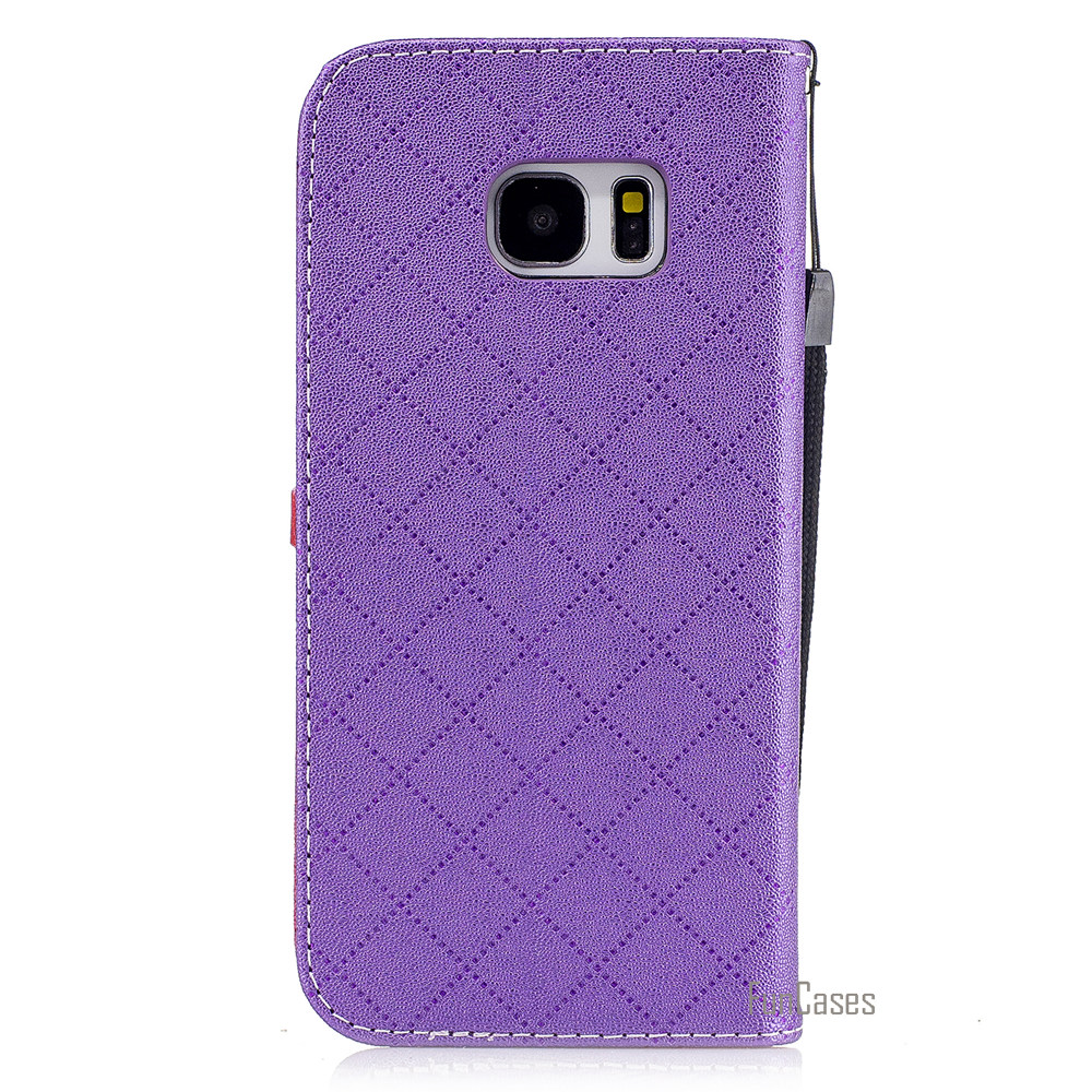 Fashion Heart PU Leather Case For Samsung Galaxy S7 Edge Wallet Holster Flip Cover For Samsung S7 EDGE G935 Telefoon Hoesje Capa