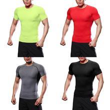 Мужские спортивные тренировочные футболки одежда для фитнеса тренерский костюм облегающий дышащий Pro с коротким рукавом для тренировок одежда