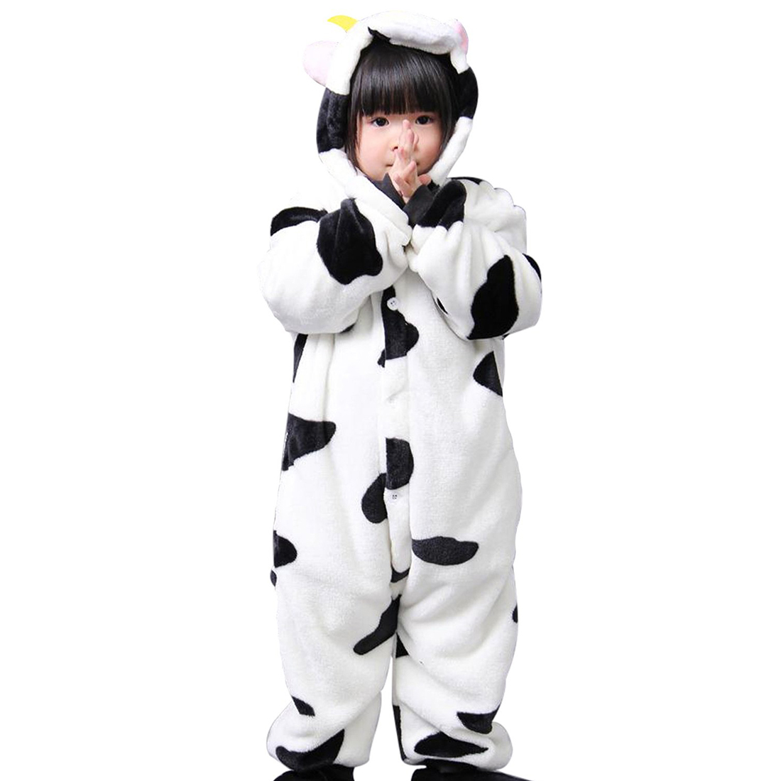 Child Unisex Girls Boys Night Costume Onesies Cow style