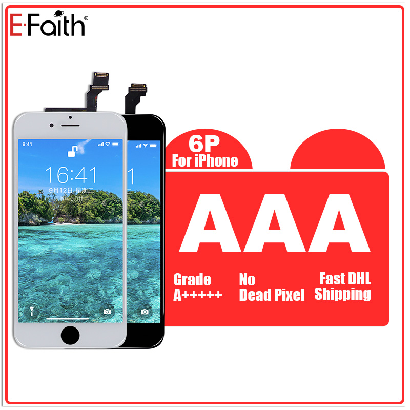 E Faith 5PCS No Dead Pixel Display LCD For iPhone 6plus 6 plus 6p lcd Replacement