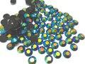 6 mm geléia azul metálico AB cor SS30 strass resina cristal prego flatback Art pedrinhas, 10,000 pçs/saco