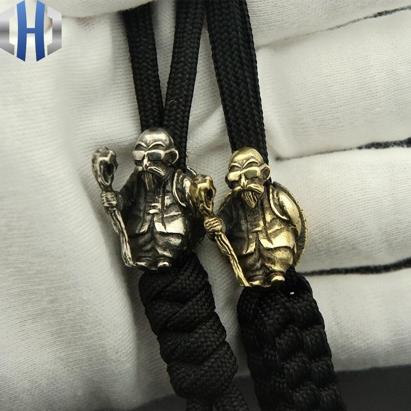 EDC Umbrella Rope Pendant Brass Turtle Fairy Knife Beads Fall Hanging Buckle Phone Fall Zipper Head Paracord Beads