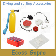 Gopro Surfing Gopro hero4/3+/3 Surfboard Mount Kits +Bobber Floating Handheld +Float Box+ Anti-Fog Inserts For Gopro Accessories