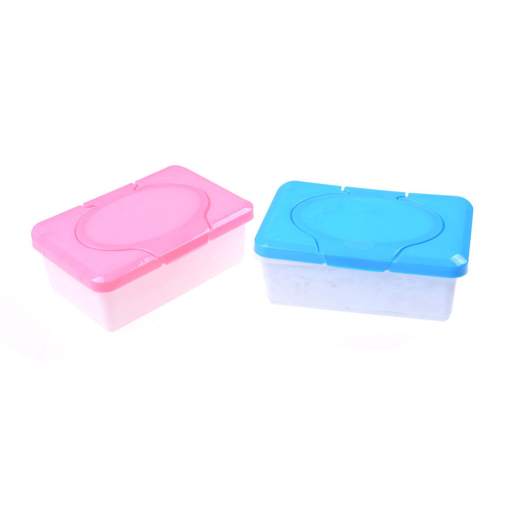 1PCS Pink blue Colors Plastic Dry Wet Tissue Box Case Baby Wipes Press Pop-up Design Home Tissue Holder Accessories