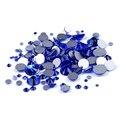 Sapphire Não Hotfix Cristal Pedrinhas Para Unhas 3D Arte Decoração SS3-SS34 Chatons Cola Em Strass Apliques Vestido de Casamento DIY