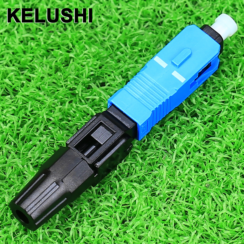 KELUSHI 100 pcs/lot SC Optic Faser Schnell Kalt Anschluss FTTH SC Einzigen Modus UPC Schnelle Stecker
