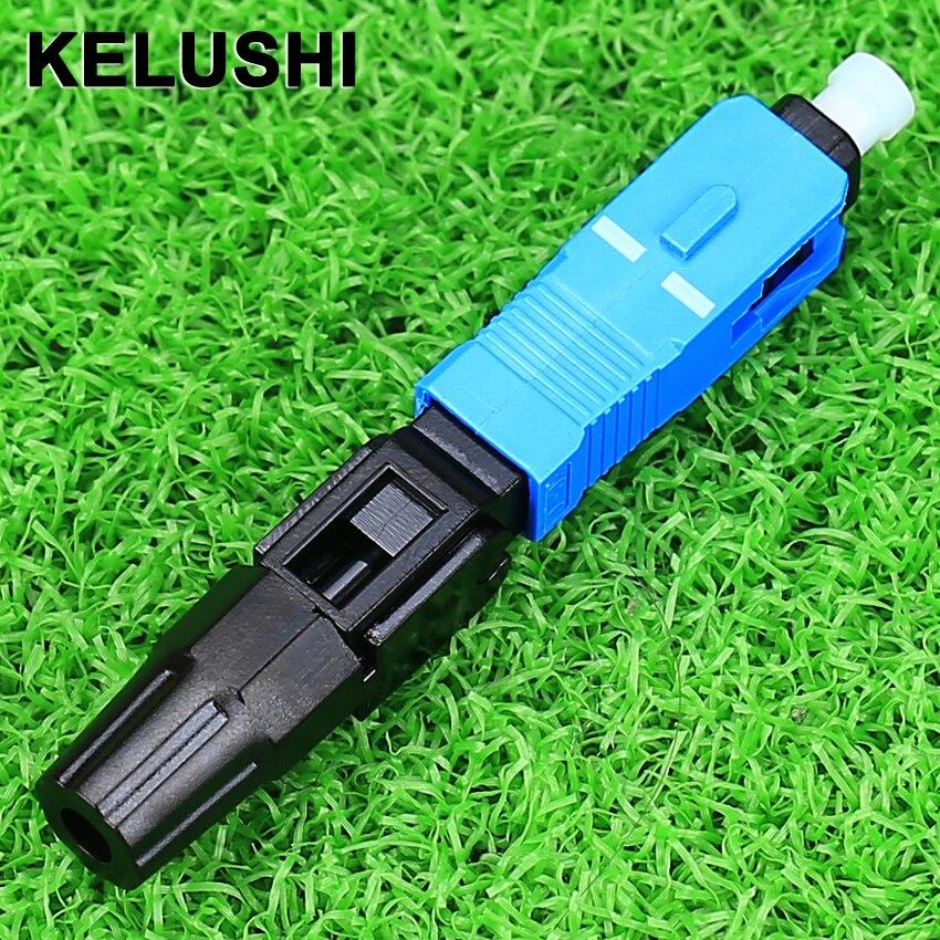 KELUSHI 100 unids/lote rápido de fibra óptica SC frío FTTH SC monomodo UPC conector rápido
