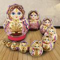 10 pçs/set Mão Pintura Conjunto de 15 CM de Altura De Madeira Do Assentamento Do Russo de Matryoshka Babushka Bonecas Bonecas de Decoração Para Casa Crianças Brinquedos