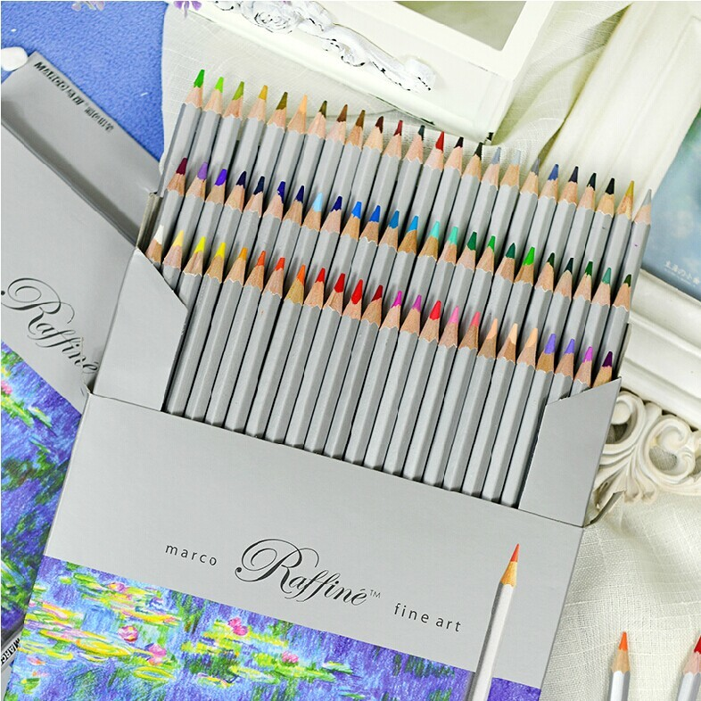 24 36 48 72pc/Lot Marco Wooden Colored Pencil Set Carton Package Oily Coloring Drawing Pencil Pastel Pencils For School Lapices faber castell fashion colored pencils artist painting oily color pencil set for student drawing 36 48 72 colors free shipping