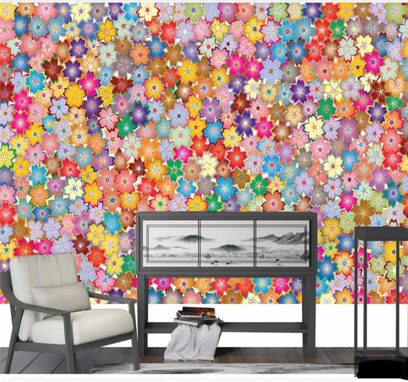 Papier peint 3d personnalisé | texture abstraite, bande florale, toile de fond, décoration murale, bonne qualité, matériau imperméable