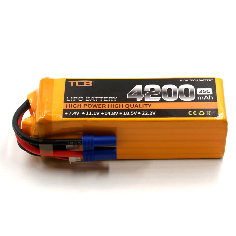 TCB RC lipo battery 22.2v 4200mAh 35C 6s RC airplane batteria AKKU car boat Li-Po AKKU free shipping mos 2s rc lipo battery 7 4v 2600mah 40c max 80c for rc airplane drone car batteria lithium akku free shipping