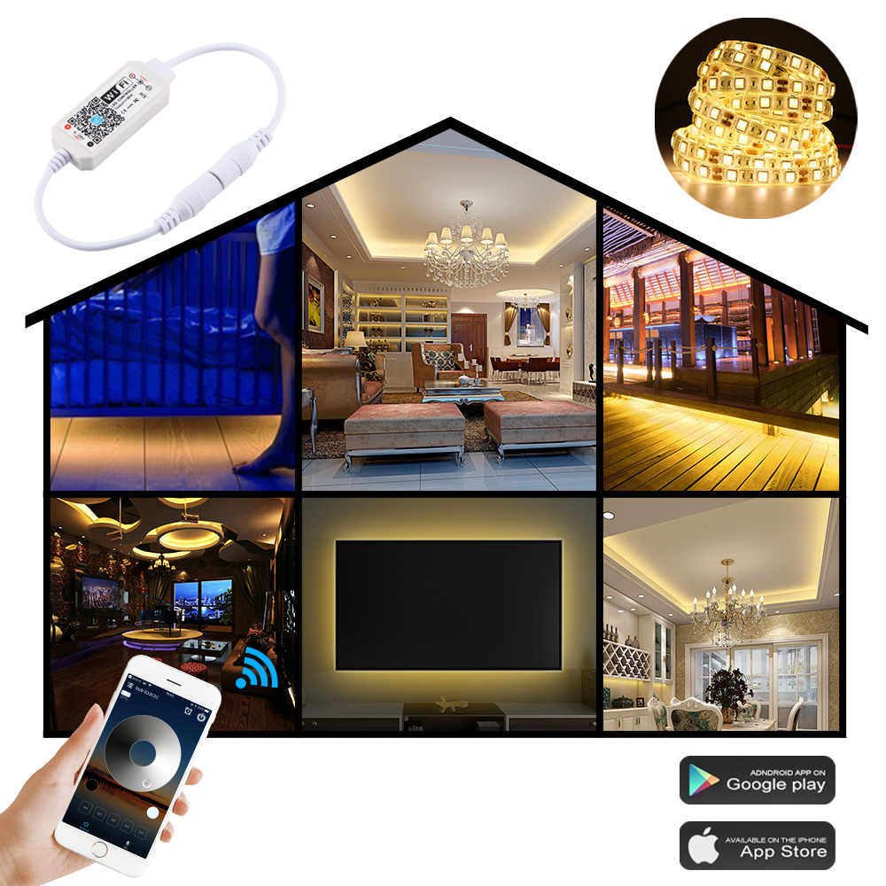 LED WIFI Dimmer Controller Dimmable Magic Home Pro Control work with Alexa Google Home IFTTT WIFI Switch For 5050 5630 LED Strip