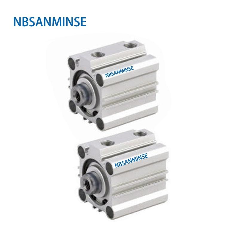 NBSANMINSE CQ2B25 Compact Cylinder 10Bar Double Acting Single Rod Air Pneumatic