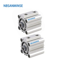 NBSANMINSE CQ2B25 Compact Cylinder 10Bar Double Acting Single Rod Air Pneumatic