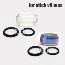 10pcs/lot lovekeke Replacement Pyrex Bulb bubble clear rainbow Glass Tube 8.5ml for Stick V9 Max Tank  Atomizer Kit