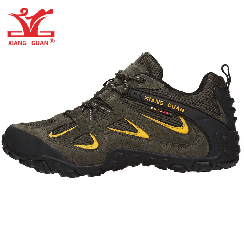 Man Hiking Shoes Men Suede Breathable Trekking Boots Green Hunting Tactical Climbing Mountain Sports Outdoor Walking