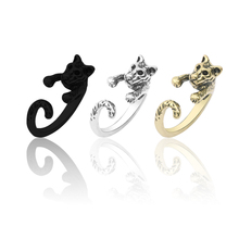 2019 New Creative Animal 3D Tiger Leopard Ring Fashion Personality Men And Women Nightclub Jewelry Opening Adjustable Size