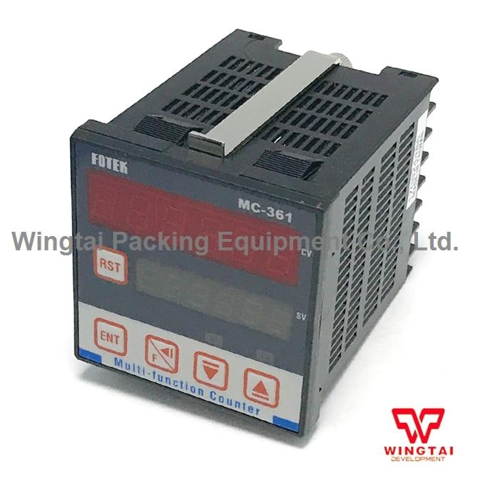 Fotek Digital Counter 90-265V AC Electronic MC-361 6 Digit Multi-Function Counter Meter 1-999999 0 8 lcd electronic digital 5 digit ring tally counter 1 x ag10