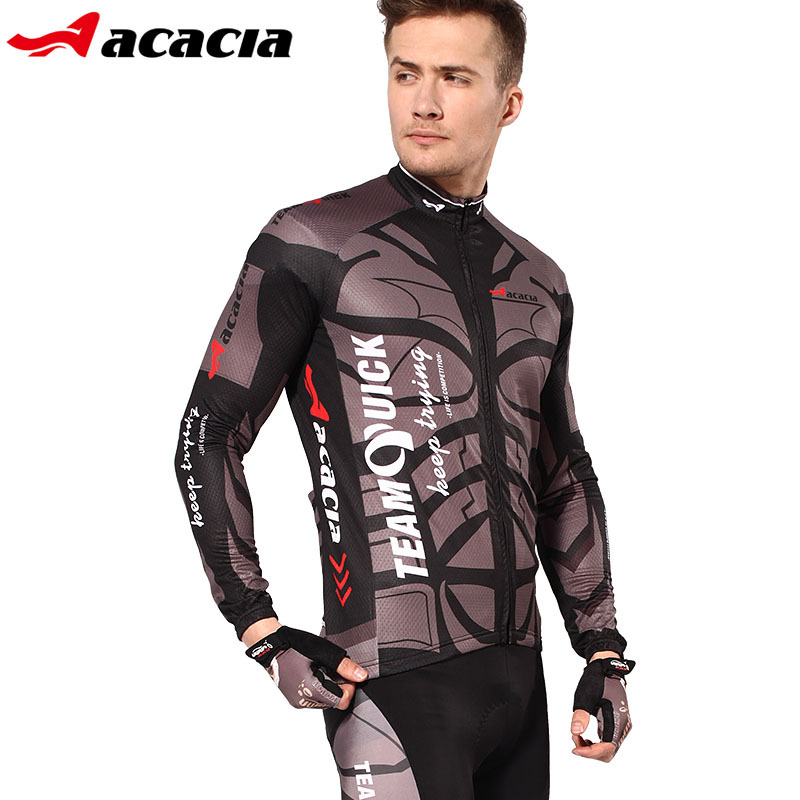 Winter Bicycle Fleece Cycling Long Motocross Cycling Clothing Jersey Motocross Sport Suit Bicycle Men Polo Sweat