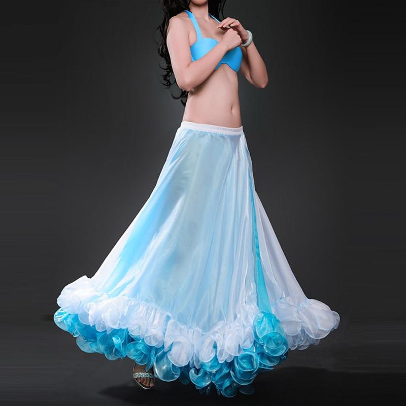 2019 新着シフォン女性のベリーダンススカートプロフェッショナルベリーダンススカート  グループ上の ノベルティ & 特殊用途 からの ベリーダンス の中 3