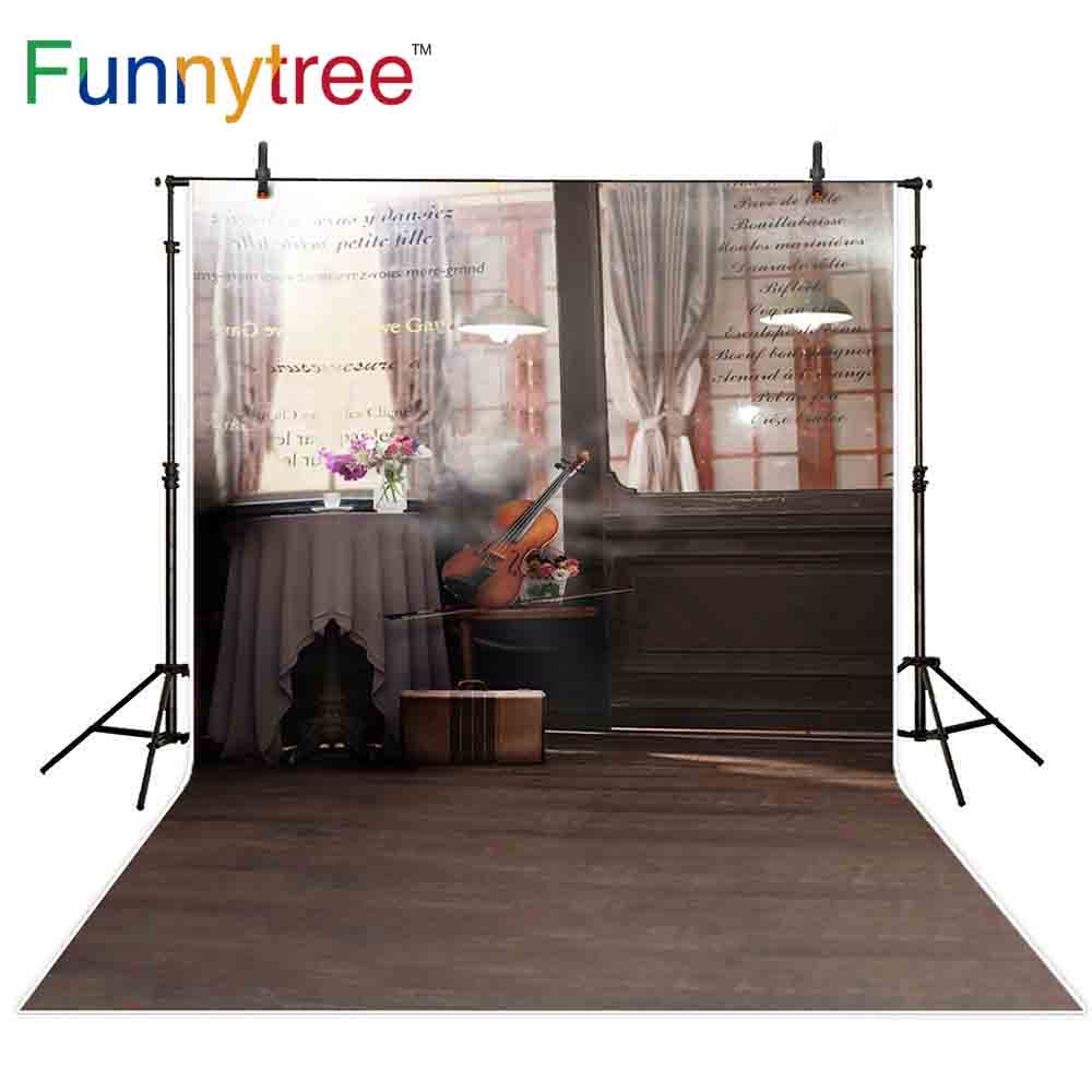 Camera & Photo Consumer Electronics Funnytree Backdrops Photography Indoor Light Table Violin Art Glass Window Romantic Valentines Day Background Wallpaper Photo