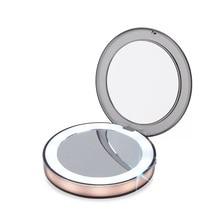 LED Mini Makeup mirror Smart Charging Smart Sensor 1X 3X Magnify hand Held Fold Small Night light Portable Fill light
